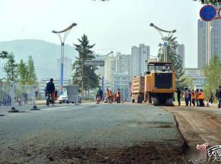 今起至月底秦州大众中路施工改造 多条易胜博官网线路临时调整